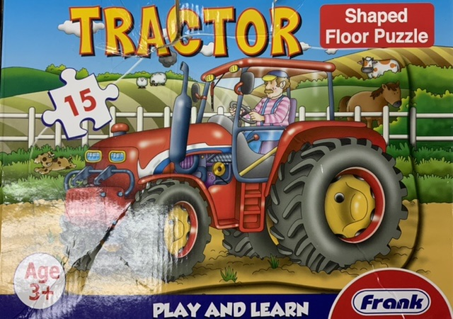 Tractor Shaped Floor Puzzle